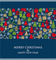 christmas card with small symbols vector image