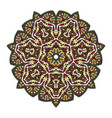 colorful mandala on a white background vector image vector image