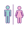 couple gender silhouette isolated icon vector image vector image