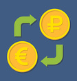 Currency exchange Euro and Ruble vector image