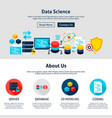 data science website design vector image vector image
