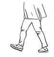 drawing womans legs in tight pants and vector image vector image