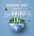 earth day with family vector image vector image