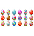 easter eggs decoration collection vector image