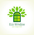 eco window logo vector image