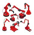 electronic machinery set vector image