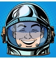 emoticon laughter Emoji face man astronaut retro vector image vector image