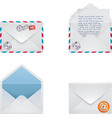 envelope icon set vector image vector image
