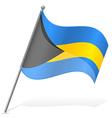 flag of Bahamas vector image