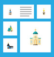 flat icon christian set of structure church vector image vector image