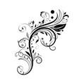floral decorative element black branch vector image vector image