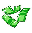 flying banknotes banking and vector image
