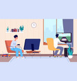 gamers at room couple play video games digital vector image vector image