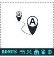 gps icon flat vector image