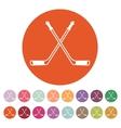 Hockey icon Sport symbol Flat vector image vector image