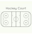 ice hockey rink vector image