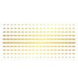 infinity golden halftone effect vector image