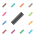 isolated hairbrush icon barber tool vector image