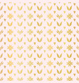 luxe rose gold winter damask hearts seamless vector image vector image