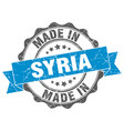 made in syria round seal vector image vector image