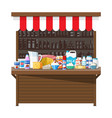 milk street market milk store stall vector image vector image
