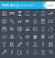 modern stroked web design seo and development vector image vector image