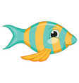 of cartoon fish vector image