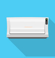 old air conditioner icon flat style vector image vector image