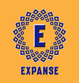 optical illusion expanse logo in round moving vector image vector image