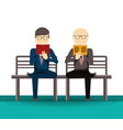 people reading book and newspaper vector image vector image