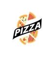 pizza logo vector image vector image