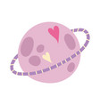 planet hearts love decoration cartoon isolated vector image vector image