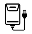 portable hard drive icon outline vector image