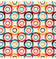 psychedelic circles on a white background vector image