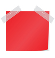 red post it vector image vector image
