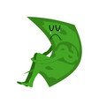 sad money sorrowful cash crying dollar sadness vector image vector image