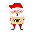 santa claus icon christmas holiday cute symbol vector image vector image