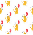 seamless pattern with cute dancing kittens cats