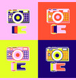 set abstract camera vector image
