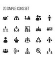 set of 20 editable cooperation icons includes vector image vector image