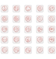Set of 25 Quality icon vector image