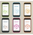Set of abstract molecule compounds for screens vector image vector image
