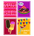 set of bright summer cards and posters vector image