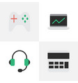 set of simple devices icons vector image vector image