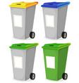 set of urban recyclable trash bin vector image vector image