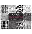 set ten hand drawn ink seamless patterns vector image vector image