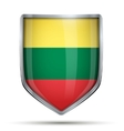 Shield with flag Lithuania vector image vector image