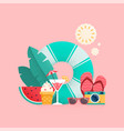 summer time colorful banner design vector image vector image