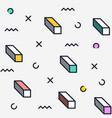 trendy geometric elements memphis style vector image vector image