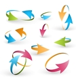Volume set of cursors graphics vector image vector image